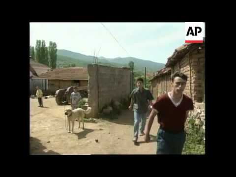 Macedonian troops patrol ethnic Albanian town