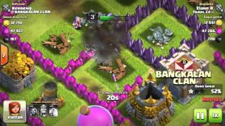 Atacando com 47 magos nv 4 no clash of clans