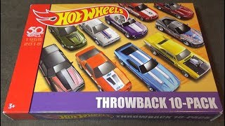 Hot Wheels 2018 - Throwback Mix 3 Target Exclusive - Review & Race