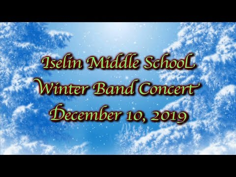 Iselin Middle School Winter Band Concert, 2019