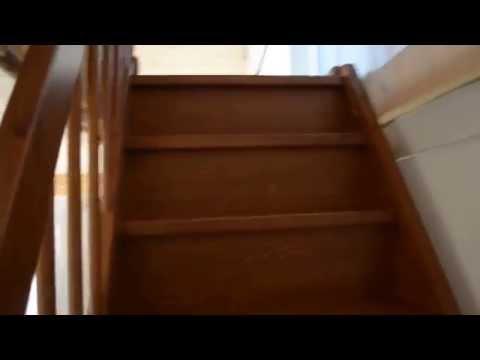 Лестница с поворотом на 180 градусов с разворотной площадкой