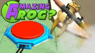 Amazing Frog - RED BUTTON AND ROCKET JUMP - PC Gameplay Part 12