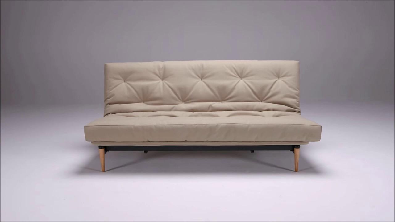 colpus futon sofa bedinnovation - youtube
