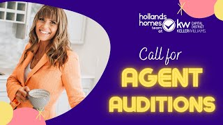 Call for AUDITION VIDEOS from KW Agents!