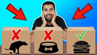 WHICH WOULD YOU EAT??? 😱 (DON'T SHOOT THE WRONG BOX CHALLENGE!!)