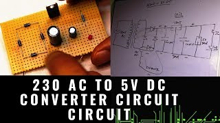 230v AC to 5V DC power supply [ with complete circuit detail ]