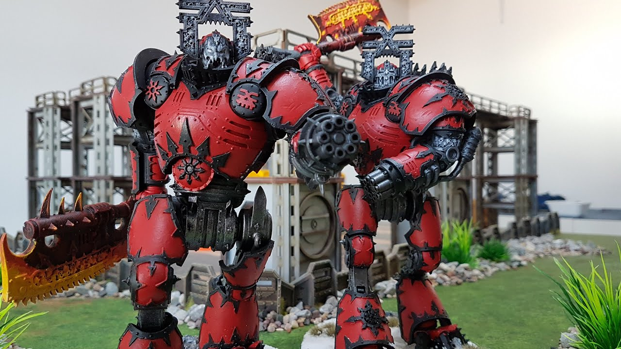 Chaos Space Marines v Space Marines, Warhammer 40k battle report