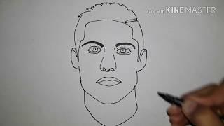 طريقة رسم كريستيانو رونالدو/how to draw Cristiano ronaldo