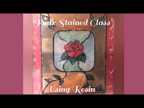 Faux Stained Glass Using Resin Tutorial