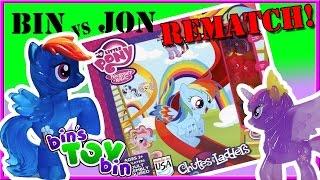 Bin Vs. Jon REMATCH - My Little Pony Chutes & Ladders! | Bin's Toy Bin