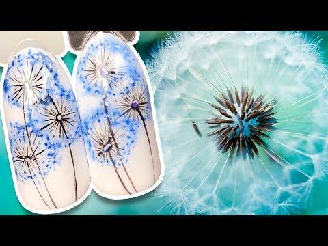 🌼 Нежный Одуванчик 🌼 Весенний Дизайн Гель-лаком для Весеннего Маникюра Рисунок на Ногтях Поэтапно
