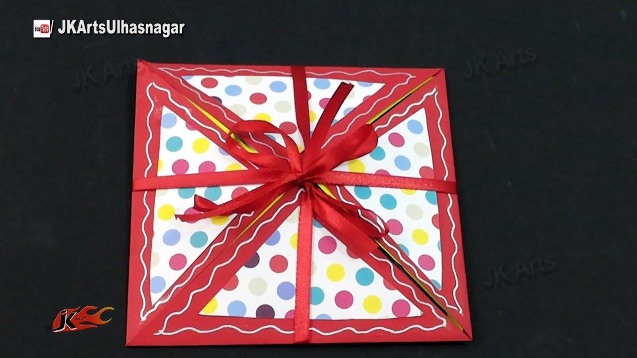 How to scrapbook greeting cards - Multi Fold Scrapbook Tutorial How To Make Love Scrapbook Jk Arts 916