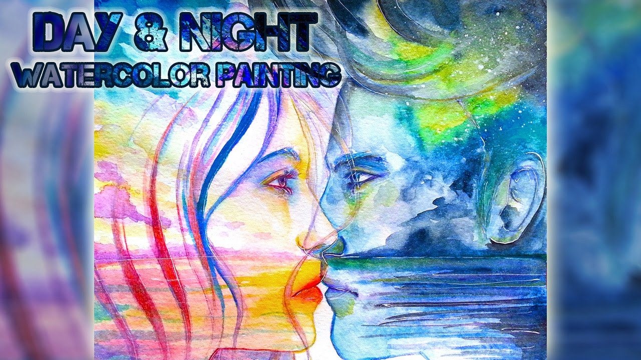 { DAY + NIGHT } ~ Watercolor Painting Process