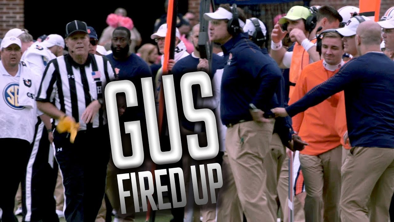 watch-an-emotional-gus-malzahn-on-the-sidelines-at-ole-miss