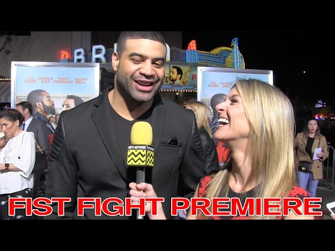 Shawne Merriman Talks Fighting Ice Cube: Fist Fight Premiere