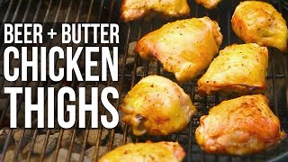 Beer n Butter Hot Chicken Thighs recipe by the BBQ Pit Boys