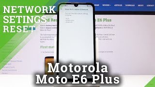 How to Reset Network Settings in Motorola Moto E6 Plus - Restore Network Settings to Default
