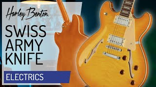Harley Benton - HB-35Plus Lemon - Semi-Hollow - Presentation -