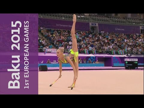 Yana Kudryavtseva wins Individual All-Around Gold | Gymnastics Rhythmic | Baku 2015 European Games