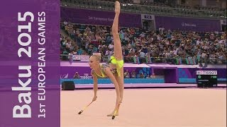 Yana Kudryavtseva wins Individual All-Around Gold | Gymnastics Rhythmic | Baku 2015 European Games