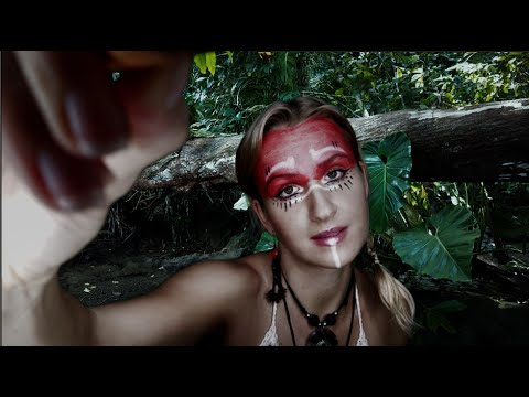 Warrior ASMR Makeup | Feel-good Role Play | Sleep Relaxation | Costa Rica