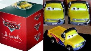 Cars 2 Directors Edition box set with die-cast John Lassetire blu ray fail boxed set
