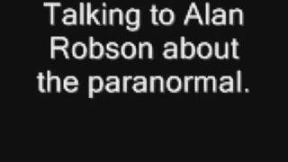 Me discussing the paranormal on Metro FM, Alan Robson