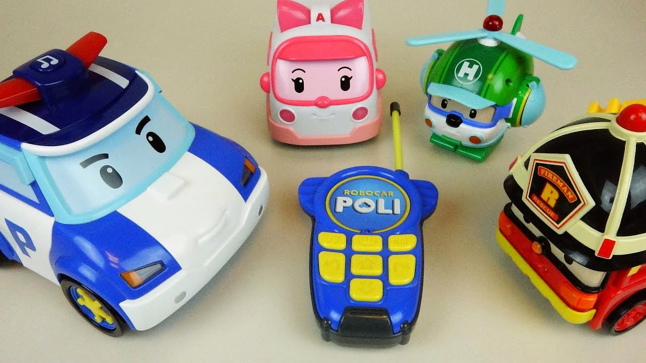 Poli remote robot car robocar poli tayo bus soft car - Robot car polly ...