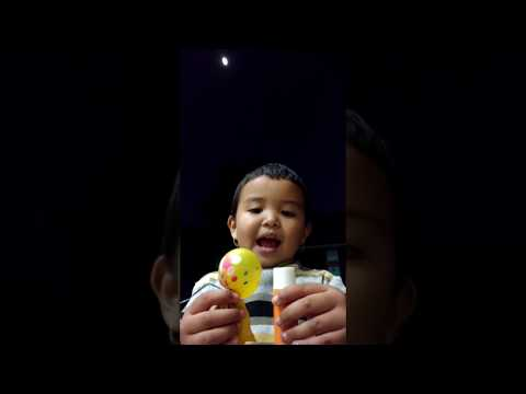 Cute baby girl singing tha tha thabungton in moonlight