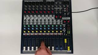 How to set the gain on a Soundcraft EPM8 Mixer