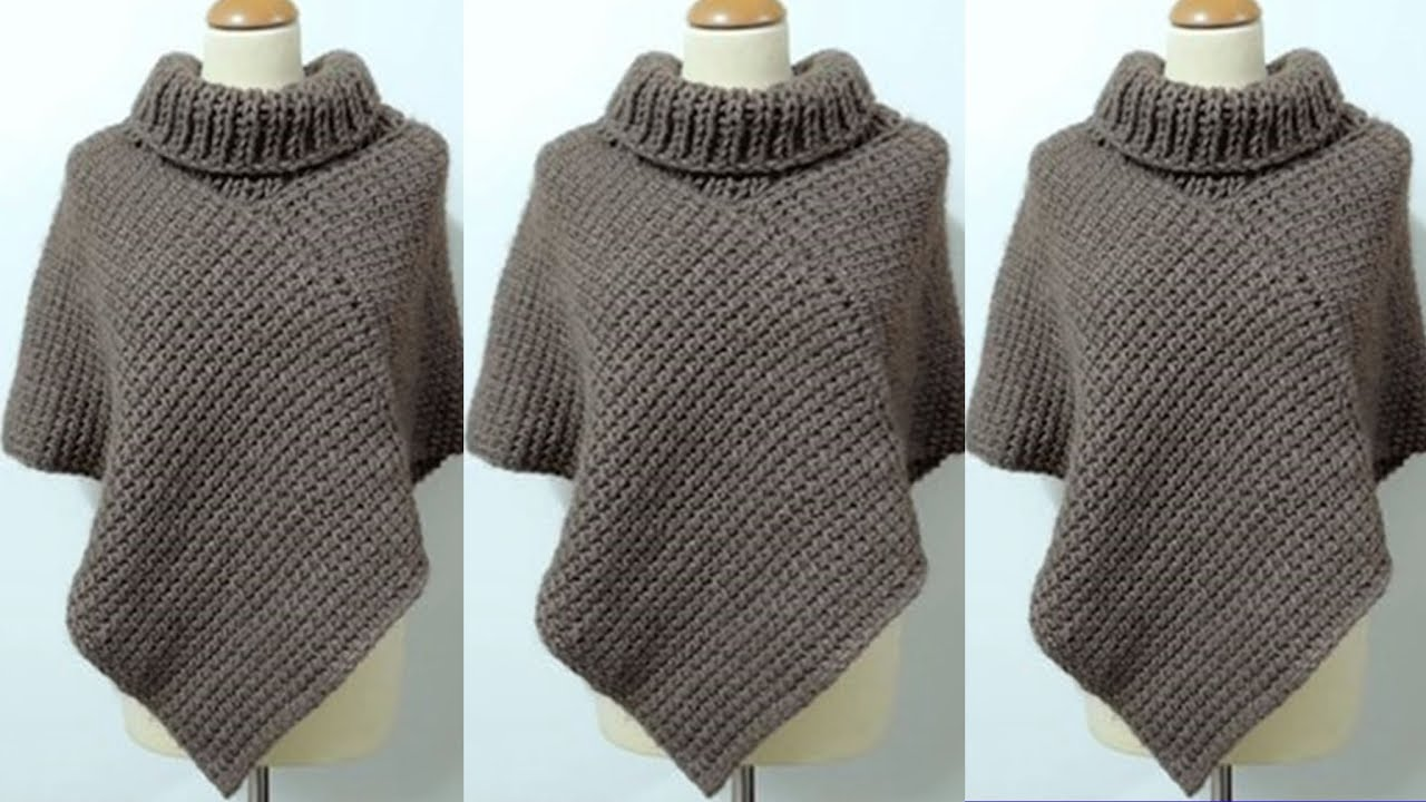 ponchos para dama tejidos a crochet youtube. Black Bedroom Furniture Sets. Home Design Ideas