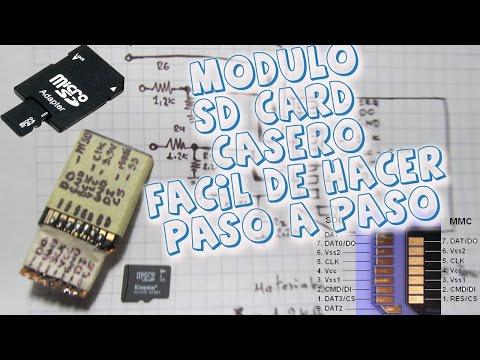 Adaptador SD Card Casero para Pic y Arduino Fácil de realizar