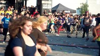 The Gallows circle pit at Toronto Warped Tour 2009
