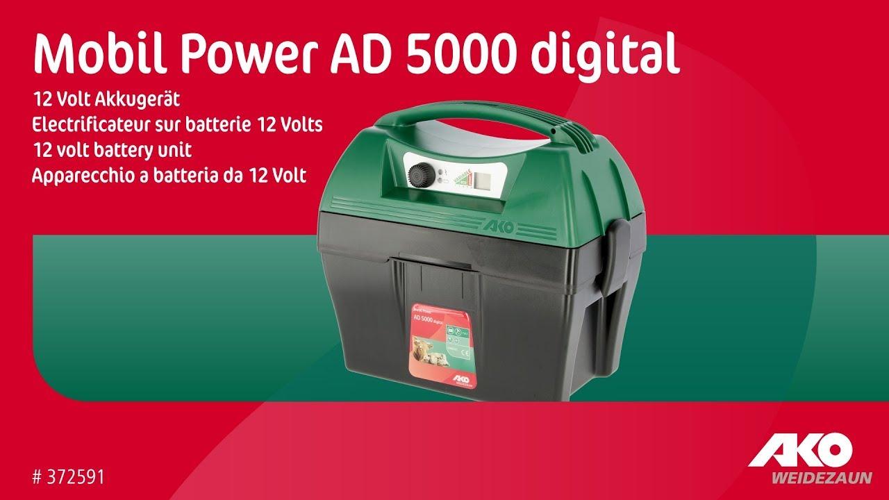 AKO Mobil Power AD 5000 digital mit GPS Weidezaungerät 372591 Kerbl