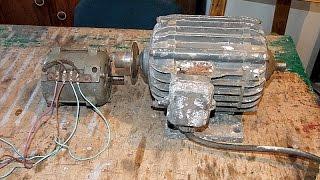 Подключение однофазного двигателя.(Статья : http://shenrok.blogspot.com/p/blog-page_18.html., 2015-05-19T14:59:41.000Z)