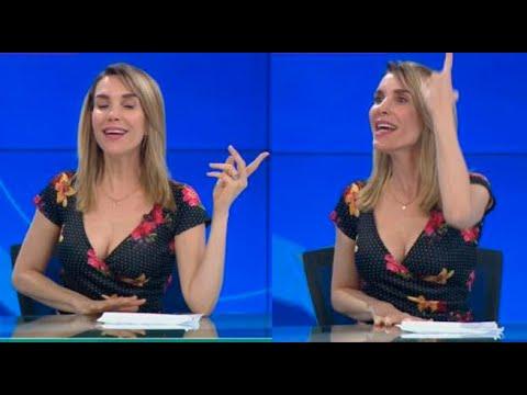 Juliana Oxenford nuevamente cantó durante la emisión de 90 Central