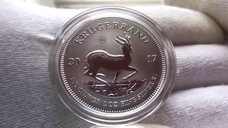 Серебряная монета Крюгерранд 2017 г.