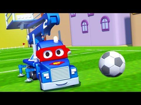 Carl o Super Caminhão e a PARTIDA DE FUTEBOL na Cidade do Carro | Desenho animado para crianças