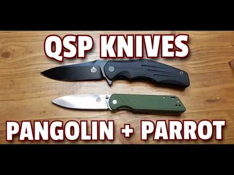 ✔ QSP KNIVES ☆ PANGOLIN + PARROT ☆ 1st Impressions