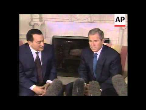 WRAP Adds Arrival Of Mubarak For Meeting With Bush
