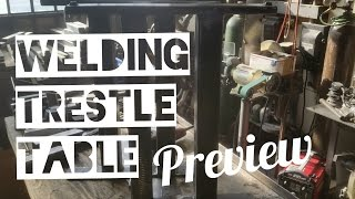 Welding Trestle Table Base - Preview