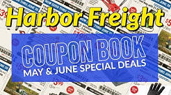 Harbor Freight Discount Coupon Book May & June Special Deals