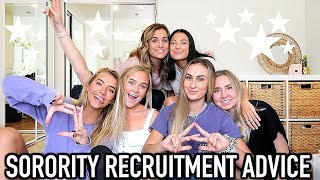 Sorority Recruitment Advice with My Sorority Sisters