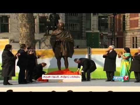 Statue of Mahatma Gandhi unveiled at Britain's Parliament Square
