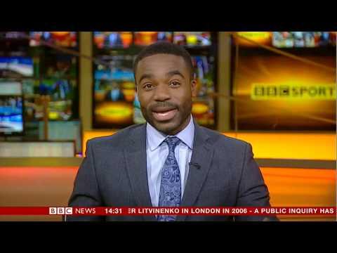 Simon McCoy  Blooper - drops his career on the news! 21/1/16