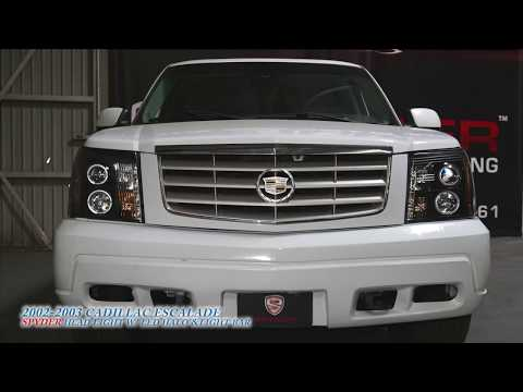 Spyder Auto How to Install: 2002-2003 Cadillac Escalade Headlight with LED Halo & Light Strip