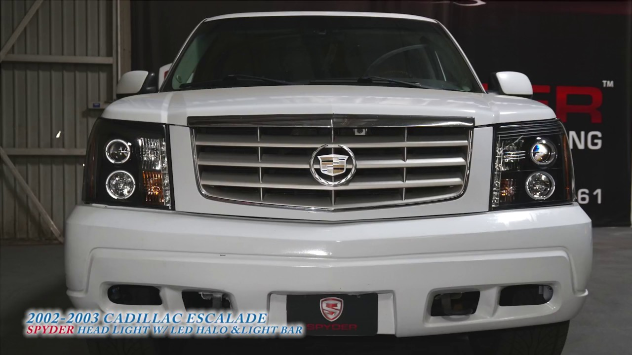 medium resolution of 02 escalade headlight wiring diagram spyder auto how to install 2002 2003 cadillac escalade headlight with led halo u0026 light