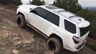 TRD Pro, TRD Offroad and SR5 - muddy rock crawling