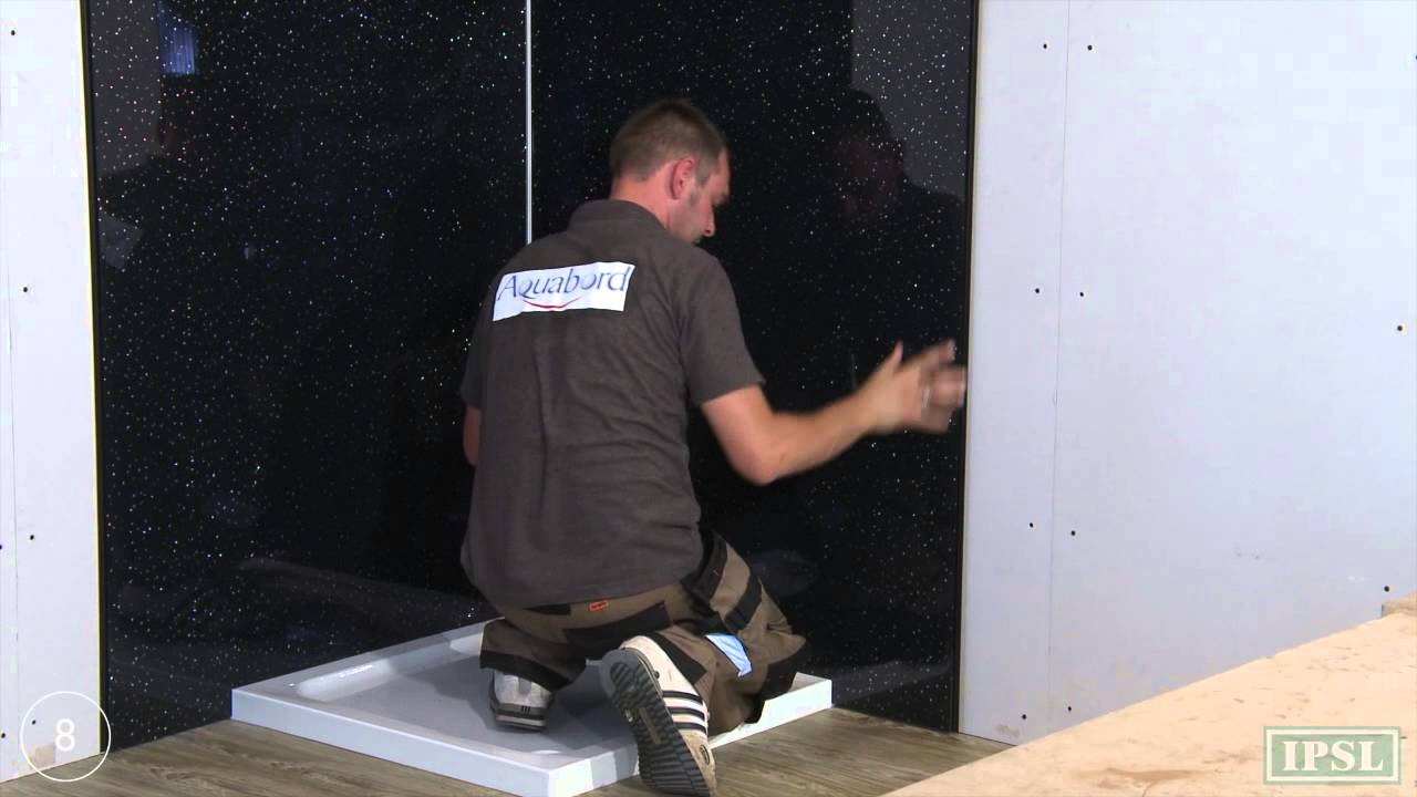 Shower wall panels - How to Install Aquabord T&G - by IPSL - YouTube