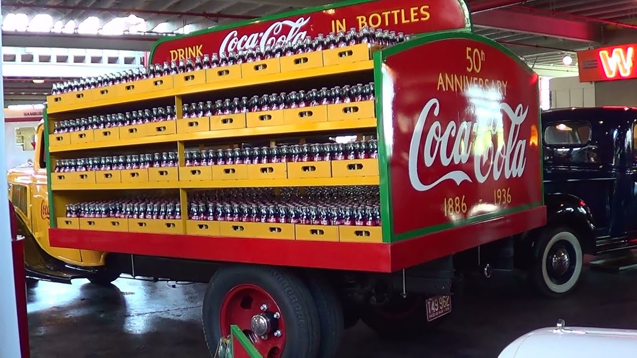 Ford Box Truck >> 1936 Ford Coke Delivery Truck National Auto and Truck Museum - YouTube
